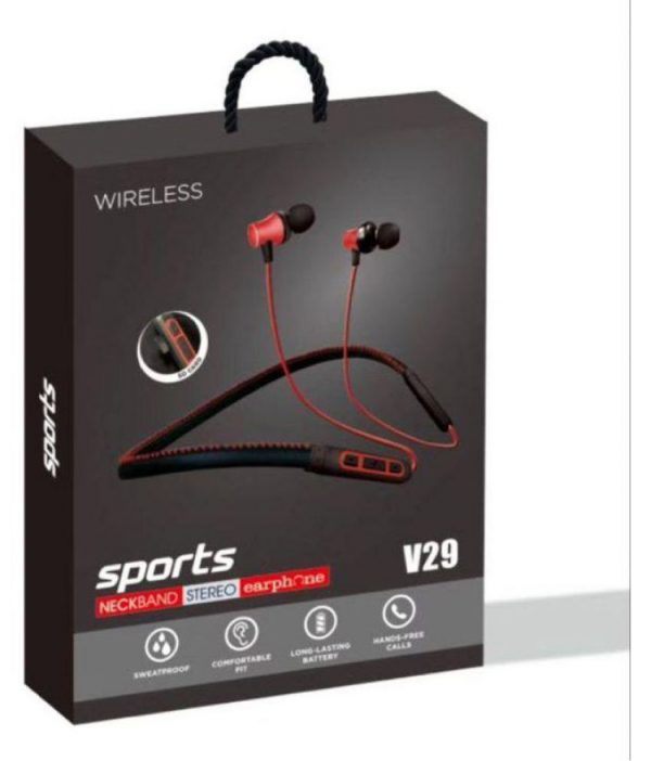Junkyard V29 Wireless Bluetooth Headphone Red
