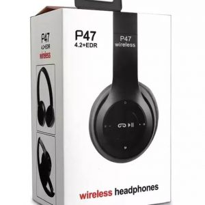 P47 - Wireless Bluetooth Foldable Headphone - Black.