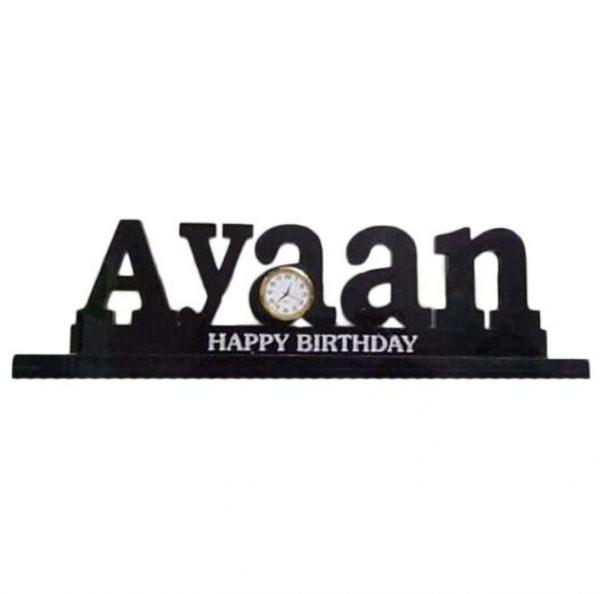 Happy Birthday Table Clock